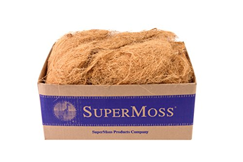 SuperMoss (23286) Coco Fiber for Wire Baskets, Dried, 3lbs Coco Hanging