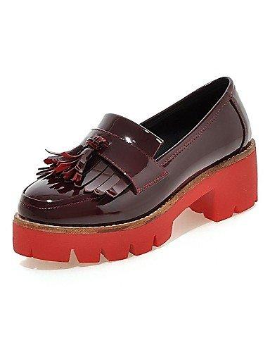 us8 Njx Zapatos Casual Cn36 Rojo Uk6 De Cn39 Robusto Vestido Beige Y Tacón Uk4 Mujer Red us6 Eu39 Semicuero Red Negro Tacones Oficina Trabajo 2016 Eu36 xpfwrx