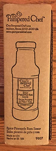 (PAMPERED CHEF SPICEY PINEAPPLE RUM SAUCE #9807)