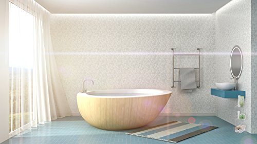 AMG and Enchante Accessories Free Standing Bathroom Spa Tower Floor Caddy, FC231-A SNI, Satin Nickel by AMG (Image #3)