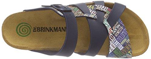 Dr. Brinkmann 700891 - Mules Mujer Azul - Blau (marine/bunt)