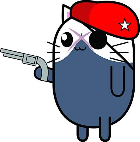 Cute Kawaii Kitty Cat in Halloween Costume Cartoon Emoji Vinyl Sticker (12