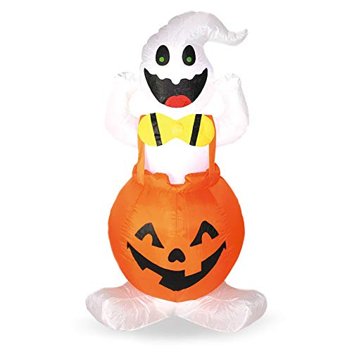 Joiedomi Halloween Blow-up Inflatable Ghost in Pumpkin Overall for Halloween Outdoor Yard Decoration (4 Foot Tall) by Joiedomi