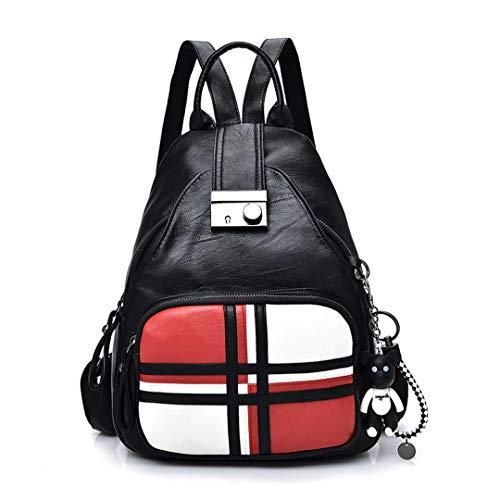 sac cuir femmes en femmes sacs cuir sac dames étudiant d'école dos Pu en dos Red sacs w6XxfOf