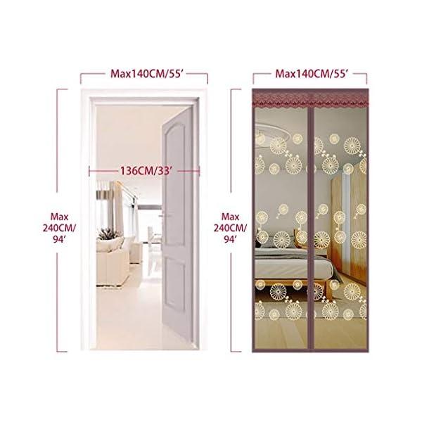 Zanzariera magnetica per porta – molte misure la vostra porta si adattano perfettamente – con chiusura in velcro Full… 5 spesavip