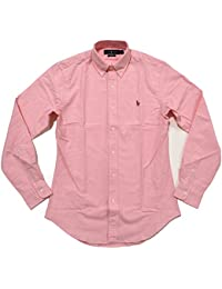 Mens Slim Fit Stretch Oxford Buttondown (Medium, Pink)