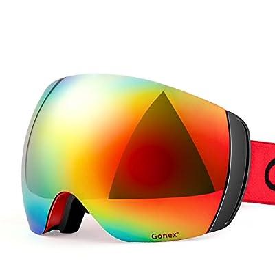 Gonex Polarized Ski Goggles, Revo Anti-fog UV400 Protection Snow Gogges with Oversized Double Spherical Lens