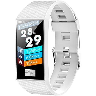 DMMDHR New DT58 Waterproof Smart Bracelet Fitness ECG Heart Rate Blood Pressure Monitor Fitness Tracker smart Watch Sports Wristband Estimated Price £71.20 -