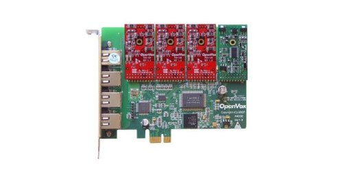 OpenVox A400E13 4 Port Analog PCIe Base Card with 1 FXS and 3 - Analog Card Port Line 4