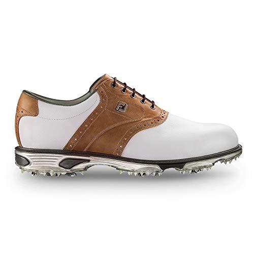 FootJoy Men's DryJoys Tour Golf Shoes White 8 XW Bomber Taupe, US