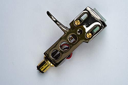 Chapado en titanio Headshell cartucho de, montura, Audio Technica, elíptica Stylus, aguja para Sanyo tp600sa, tp625, TP727,...