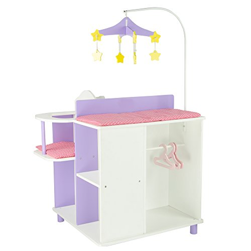 Olivia 39 S Little World Princess Baby Doll Furniture Baby Changing Station With Storage White