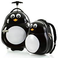 HEYS Kids 2Pc. Travel Tots (Penguin) Juego de maletas y mochilas livianos
