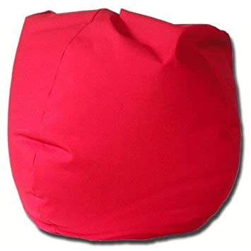 Captivating Twill Bean Bag Chair In Red