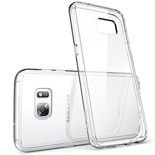 Galaxy S7 Edge Case, [Scratch Resistant] i-BlasonClear [Halo Series] Samsung Galaxy S7 Edge Hybrid Bumper Case Cover 2016 Release (Clear (Anti-Scratch))