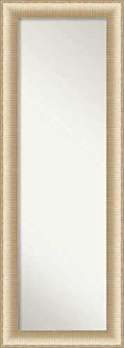 Amanti Art Full Length Mirror Elegant Brushed Honey Mirror Full Length Full Body Mirror On The Door Mirror 18.75 x 52.75 in.