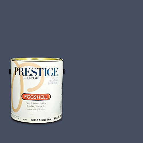 Prestige, Blues and Purples 5 of 8, Interior Paint and Primer In One, 1-Gallon, Eggshell, Ink Pad - Ink Pads Shell