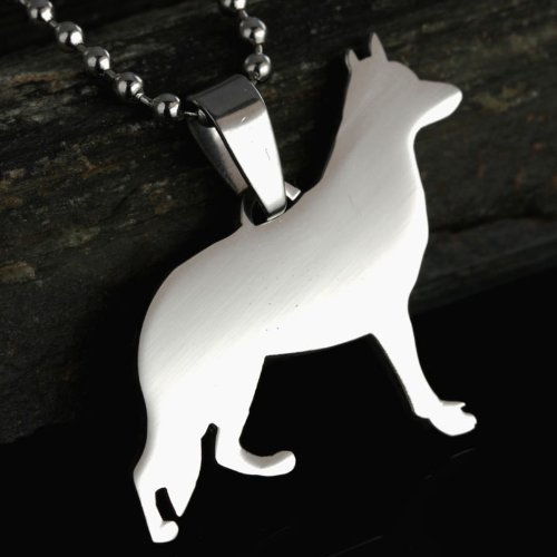 Stainless-Steel-German-Shepherd-GSD-Dog-Silhouette-Pet-Dog-Tag-Breed-Collar-Charm-Pendant-Necklace
