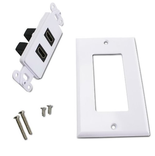 Dual HDMI Wall Plate with Gold-Plated High Speed HDMI Port KUNOVA Ethernet Compatible TM