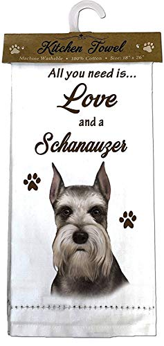 E&S Pets 700-34 Schnauzer, cropped Kitchen Towels, Off- Off-white ()