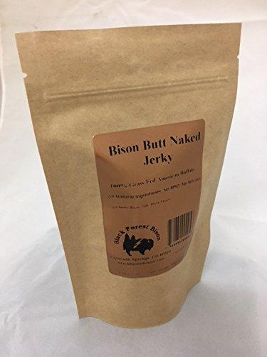 Black Forest Bison Bison Butt Naked Jerky, all natural GF GLUTEN FREE 3.5oz