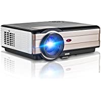 Digital Projector Full HD 3500 Lumens, Multimedia Home Theater Projector 1080P 720p HDMI Support for TV Laptop iPhone Smartphone Mac iPad Netflix XBOX DVD Player
