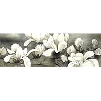 Amazon wieco art magnolia modern wrapped floral artwork giclee wieco art magnolia modern wrapped floral artwork giclee canvas prints white and grey flowers pictures paintings mightylinksfo