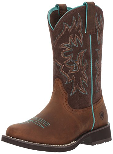 Ariat Women's Delilah Round Toe Work Boot, Distressed Brown, 10 B US by Ariat