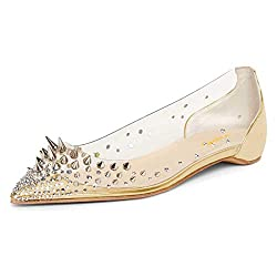 Rhinestones Spikes Riveted Sequins Pointed Toe Shoes