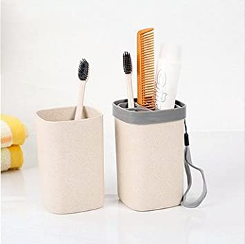 xiuxxxliu64 viaje, lavado, cepillo de dientes taza, almacenamiento, trajes, Kit de