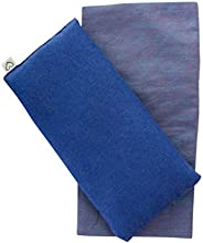 Yoga Gift Set - Unscented Flax Eye Pillow w/Cover - Soft Cotton Flannel - 10 x 22 - Washable - Soothing Relaxi