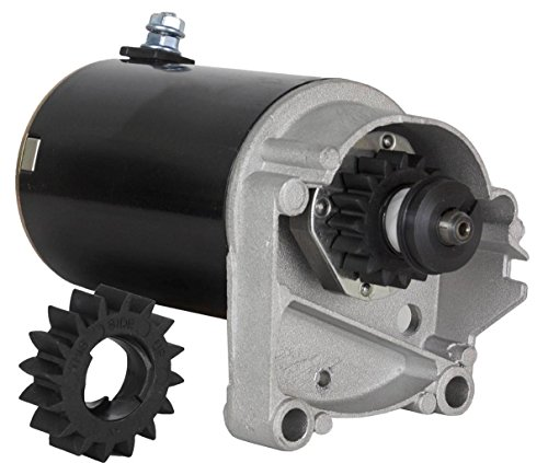 - STARTER MOTOR FITS BRIGGS & STRATTON 14 16 18 HP STARTER 497596 V TWIN WITH FREE GEAR