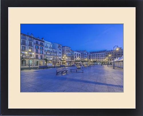 Framed Print of Spain, Pamplona, Plaza del Castillo at Dawn by Fine Art Storehouse