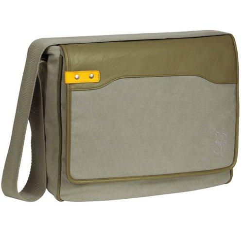 Lässig Pouchy - Bolsa de transporte, color khaki/amarillo Khaki/amarillo (Khaki/Lime)