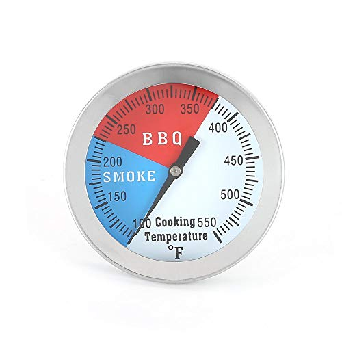 Dvicommedy 5YStainless Steel BBQ Barbecue Smoker Grill Thermometer Temperature Gauge