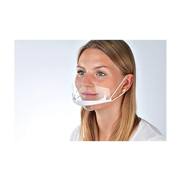 10-Stck-Gesichtsschutz-Visier-Augenschutz-Spuckschutz-Schutzschild-Gesichtsschirm-Gesichtsschutzschild-Schutzvisier-Mund-Nasenschutz-Face-Shield-Halbvisier-Gesichtsvisier