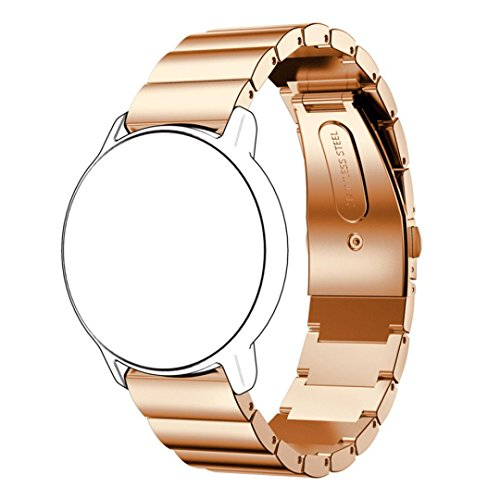 HP95(TM) Luxury Replacement Stainless Steel Bracelet Smart Watch Band Strap for Xiaomi Huami Amazfit A1602 (A style, Rose Gold)