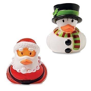 Weihnachten Ente.Weihnachten Gummienten Badeente Santa Und Schneemann Ente 2 Stück Packung Strumpf Füller