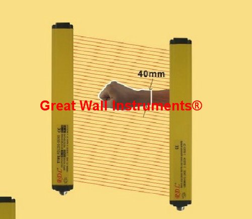GW43-4-10 Safety Light Curtains safety protection sensor light screen& beams: 10 &Sensing height: 430mm - Detector Curtain