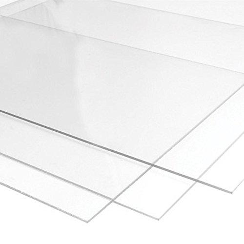 CLEAR acrylic PERSPEX SHEET A4 (297mm x 210mm / 11,69'' x 8,26'') 3mm thick | transparent plexiglass plastic panel plate, - Glasses Perspex Frames