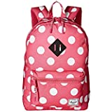 Herschel Supply Co. Kids' Heritage Youth Children's Backpack, Polka Dot Fandango Pink, One Size