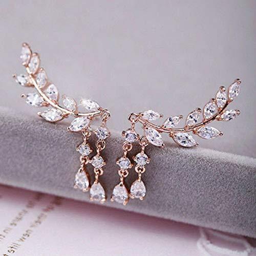 Tomikko Fashion Women Ear Hook Plated Crystal Rhinestone Stud Ear Clip/Tassel Earrings | Model ERRNGS - 8273 ()