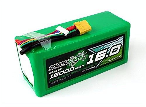Turnigy MultiStar 6S 16000mAh 10C LiPo Battery Pack 22.2V w/ XT90 by DevTu