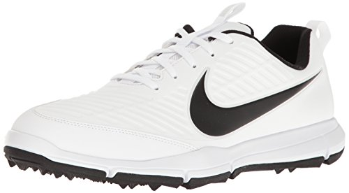NIKE Men's Explorer 2 Golf Shoe, White/Black, 12 M US