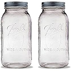 Ball 2 Quart Wide Mouth Canning Jar, Pack of 2