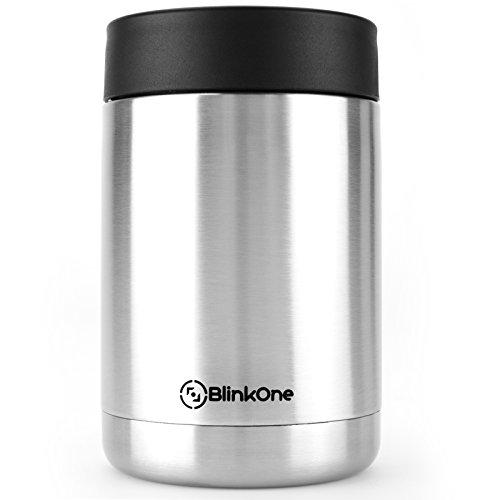 BlinkOne Can Cooler: Stainless Steel Beverage Bottle Insulator Holder and Cooling Jar (12 Oz)