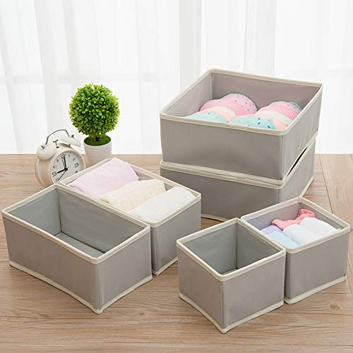 Fabric Wardrobe Organiser for Cupboard Ties Underwear Drawer Insert MaidMAX Set of 8 Dresser Drawer Organiser Closet Dividers Foldable Storage Bins Box Containers for Socks Bras Scarves