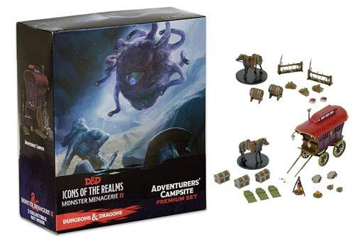 NECA D&D Icons of The Realms: Monster Menagerie 2 Adventurer's Campsite D&D 2, Dungeons and Dragons