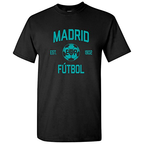 (Madrid Spain Away Kit World Classic Soccer Football Arch Cup T Shirt - Small - Black)