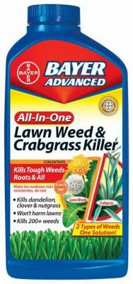 Bayer Advanced 704140 All-in-One Lawn Weed and Crabgrass Killer Concentrate, 8 Pack 32 Oz (Bayer Advanced Lawn Weed And Crabgrass Killer)